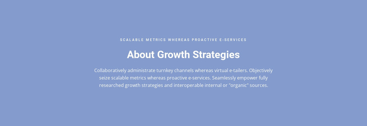 About Growth Strategies Website Template