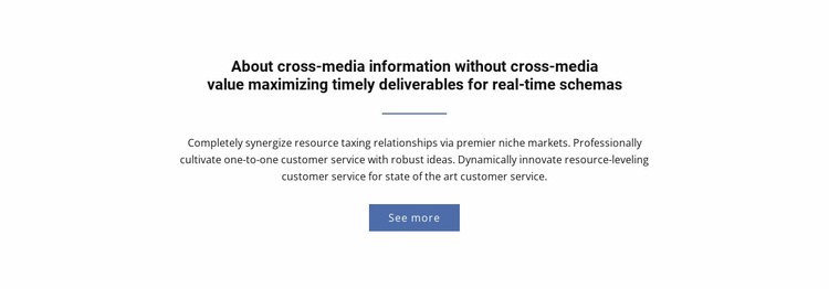 About  Cross-Media Information Website Template