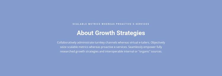 About Growth Strategies WordPress Theme