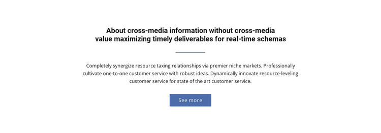 About  Cross-Media Information Woocommerce Theme