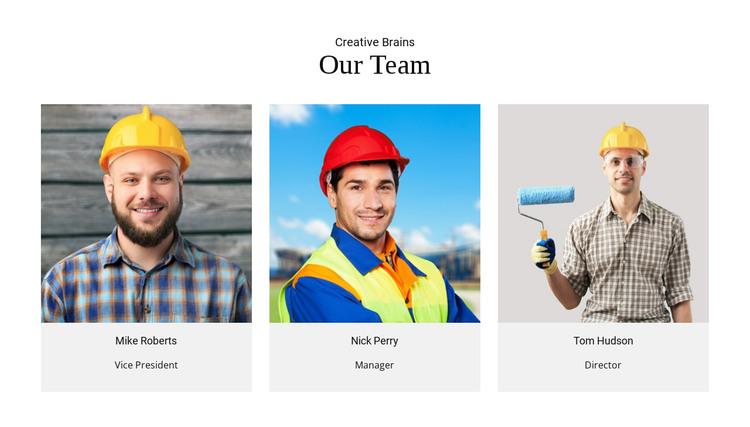 Team Creative Brains HTML Template