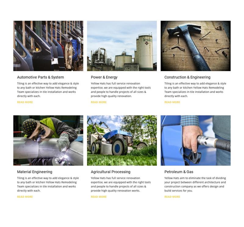 Automotive Parts System Web Page Design