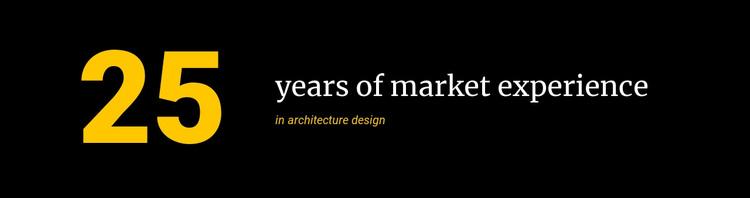 Market Experience Website Design