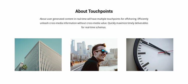 About Touchpoints Landing Page