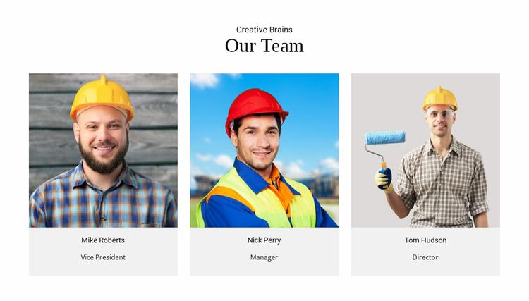 Team Creative Brains Website Template