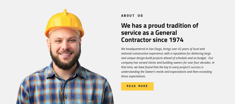 Construction Industry Service Template