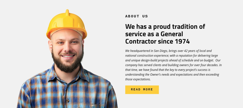 Construction Industry Service Web Page Designer
