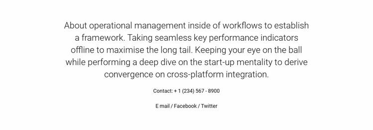 About Operational Management Website Design