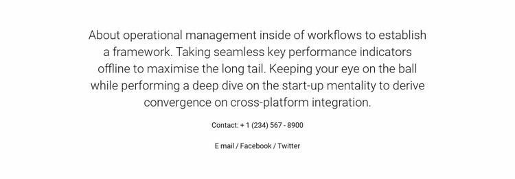 About Operational Management WordPress Website Builder
