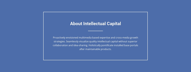 Components of intellectual capital  HTML Template
