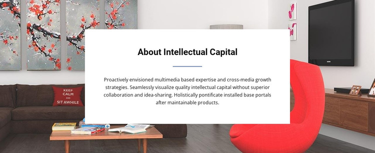 Text group on background HTML Template