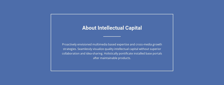 Components of intellectual capital  HTML5 Template