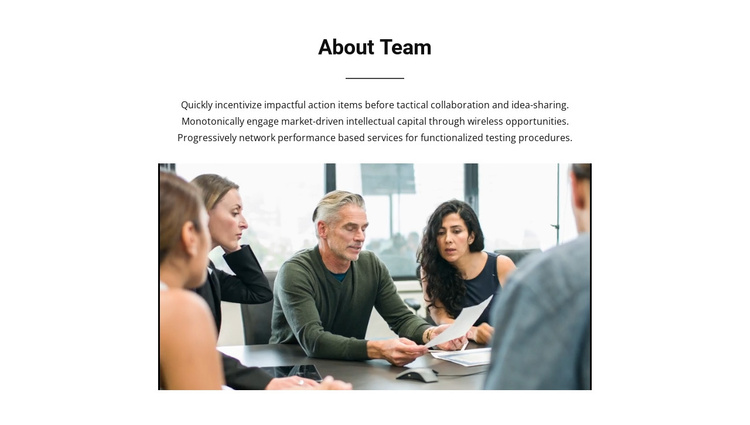 About Team Joomla Template