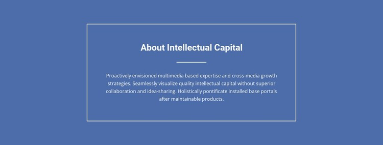 Components of intellectual capital  Static Site Generator