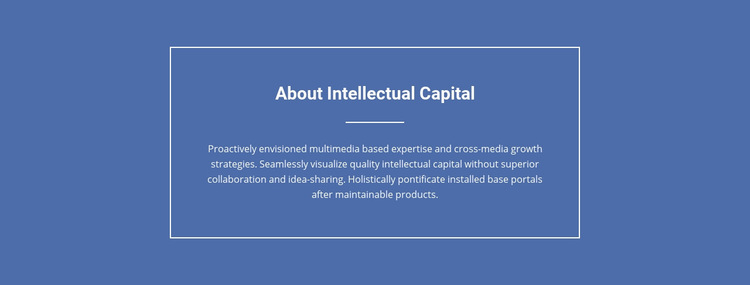Components of intellectual capital  Web Page Design