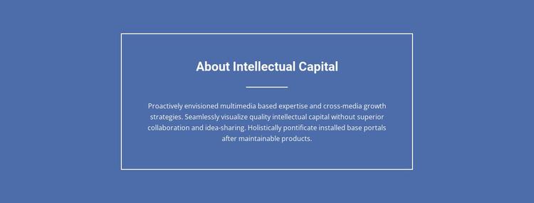 Components of intellectual capital  Website Mockup
