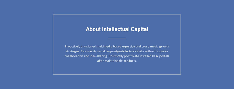 About intellectual capital Website Template