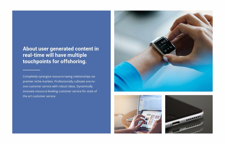 Business generated content Landing Page