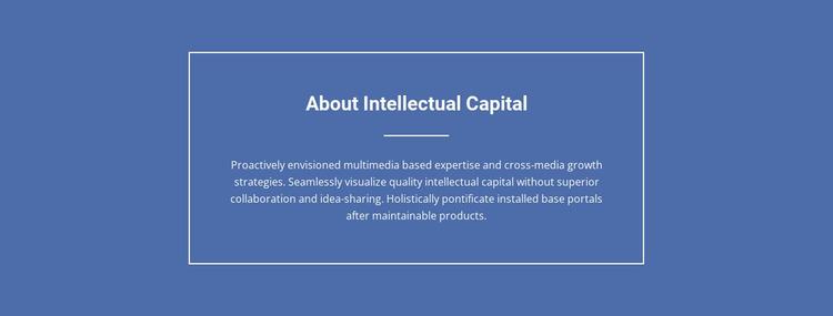 Components of intellectual capital  WordPress Website Builder