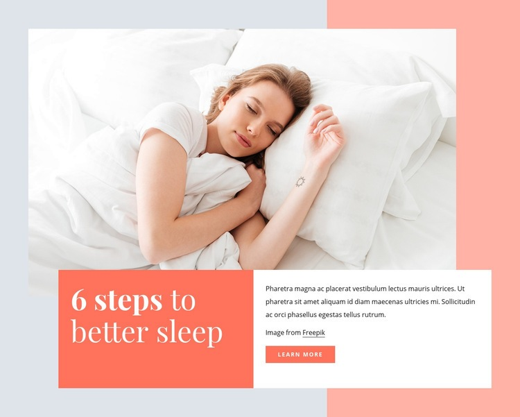 6 steps to better sleep Web Page Designer