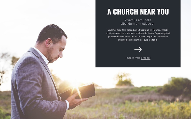 A church near you Website Template