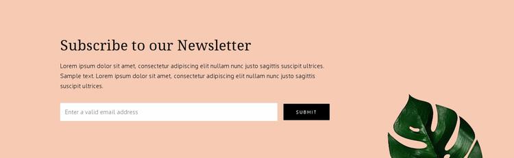 Newsletter subscription Website Design