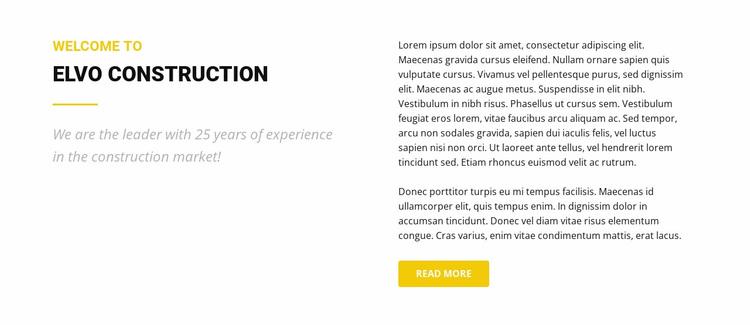 Elvo Construction Website Design