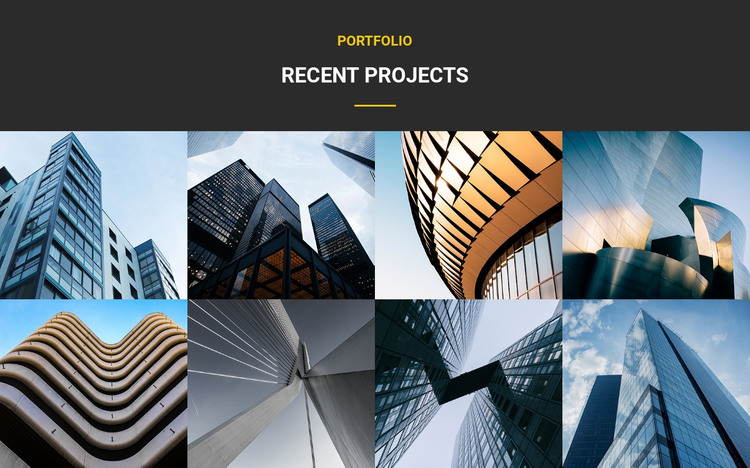 Recent Projects Portfolio Homepage Design