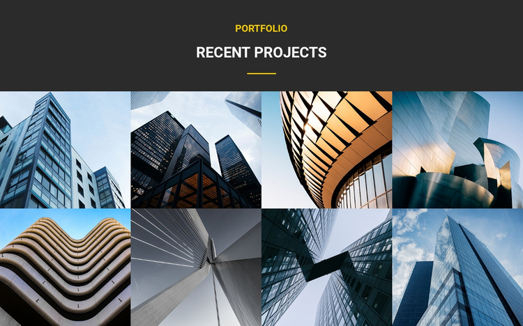 Recent Projects Portfolio One Page Template