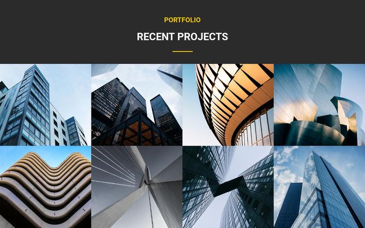 Recent Projects Portfolio Website Builder