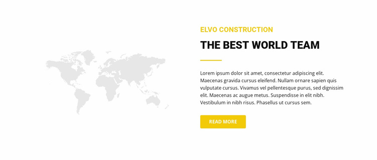 Map and text Website Template