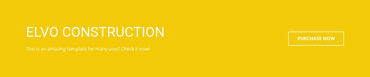 Elvo Construction Website Template
