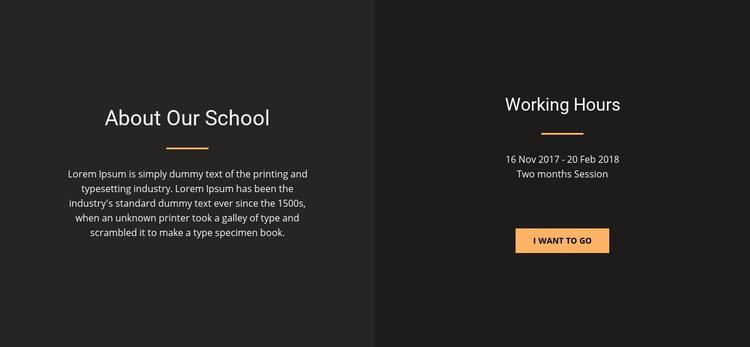 About design school Homepage Design