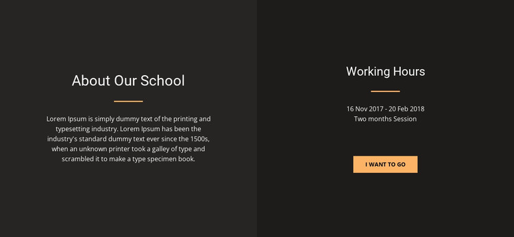 About design school HTML Template