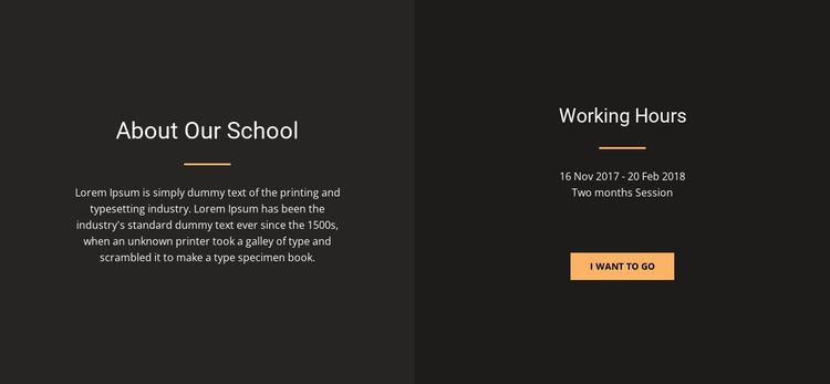 About design school Html Website Builder