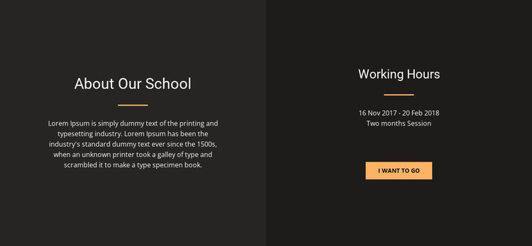About design school HTML5 Template