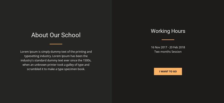 About design school Website Mockup