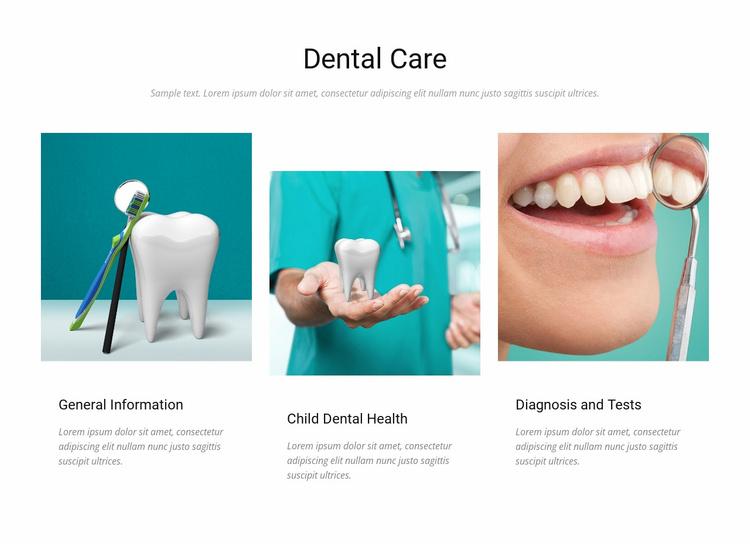 Dental care Website Template