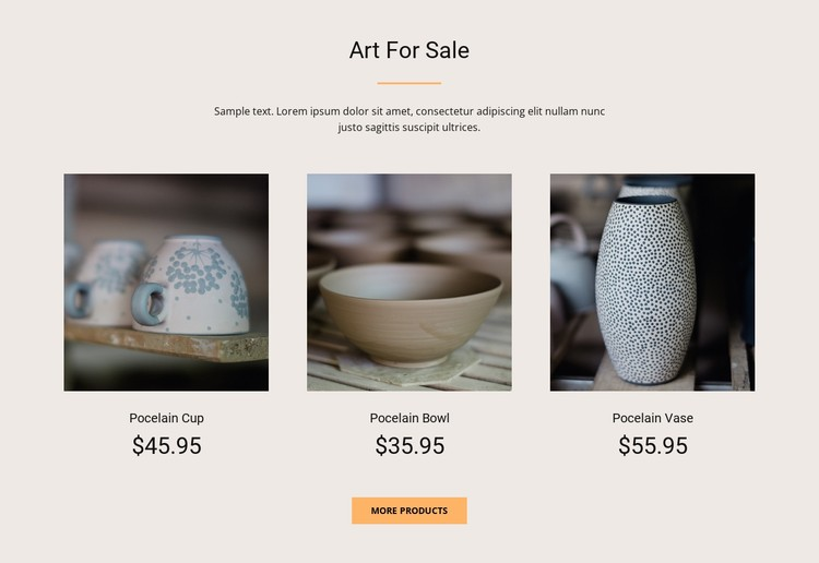 Art For Sale CSS Template