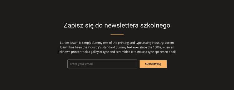 Zapisz się do naszego newslettera Szablon witryny sieci Web