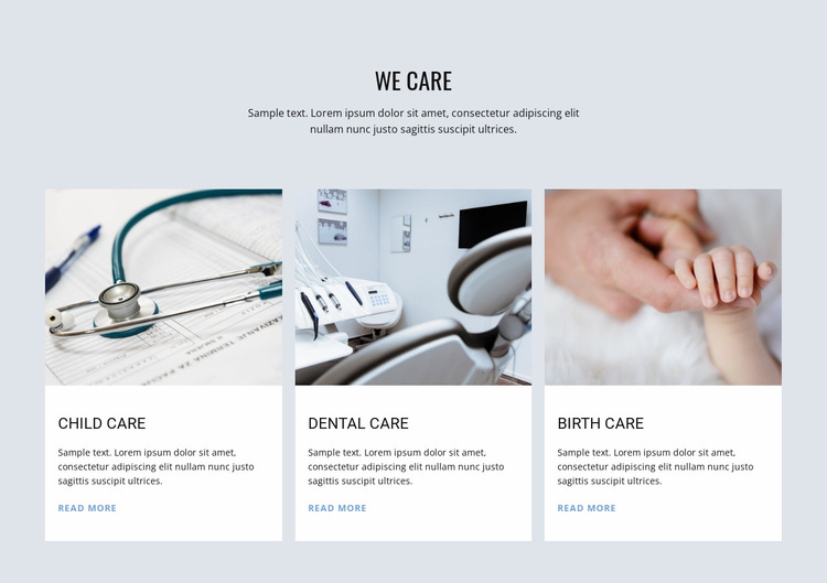 Medicine Care child Website Builder