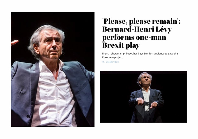 Brexit Play Website Template