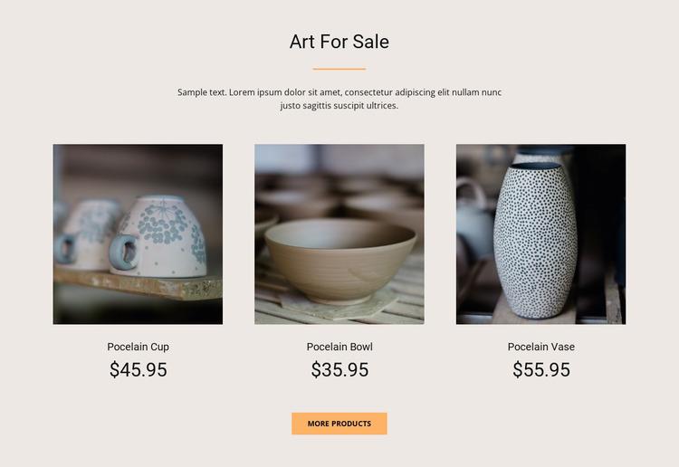 Art For Sale WordPress Website Builder