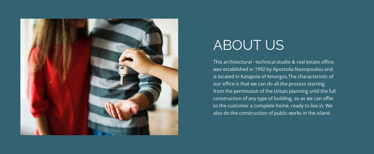 About Real Estate HTML Template