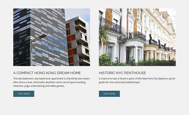 Architecture building  HTML Template