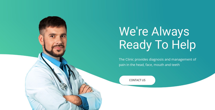 Quick medical assistance HTML Template