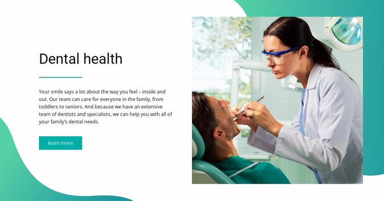 Dental health Website Mockup