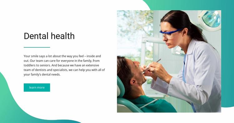 Dental health Website Template
