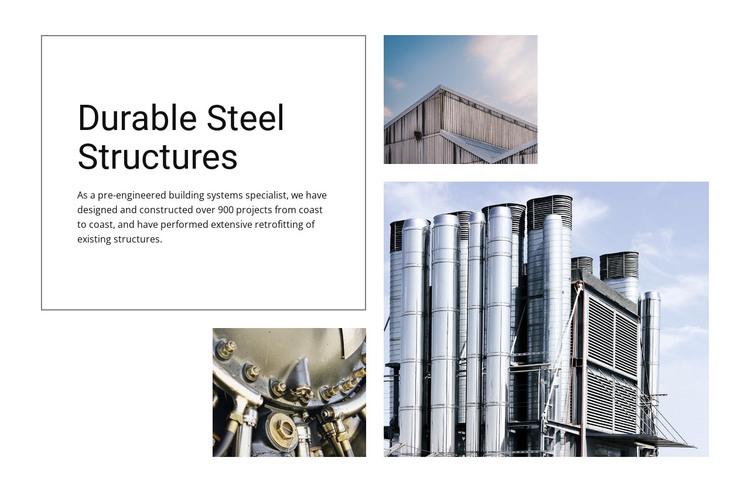Durable Steel Structures HTML Template