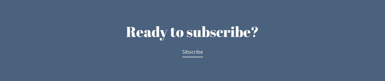 Ready subscribe HTML Template